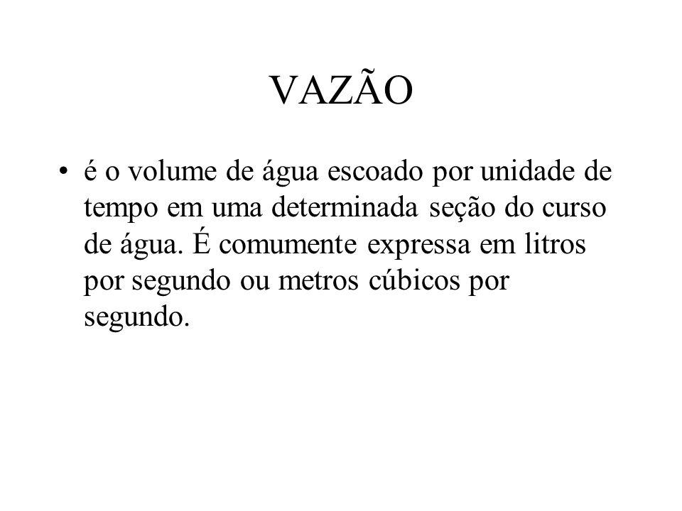 VAZÃO