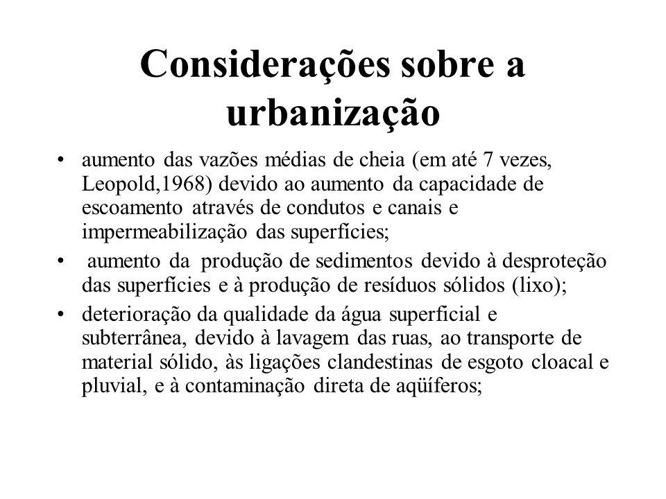 Considerações sobre a urbanização