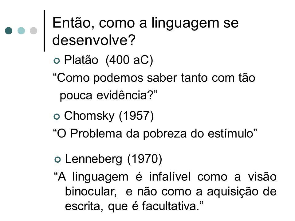 Então, como a linguagem se desenvolve