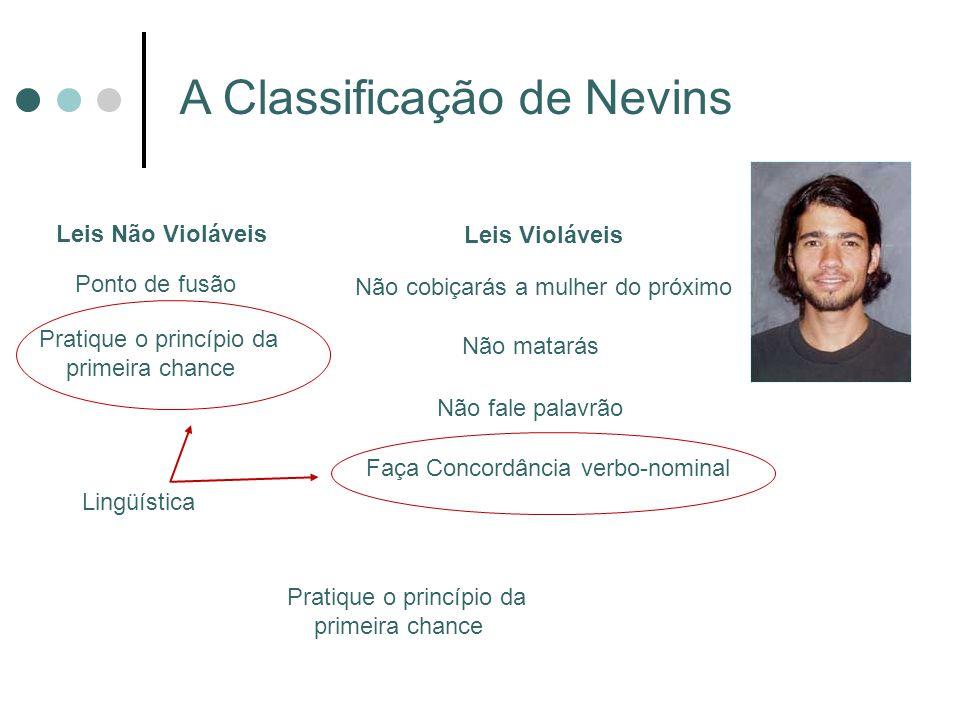 A Classificação de Nevins