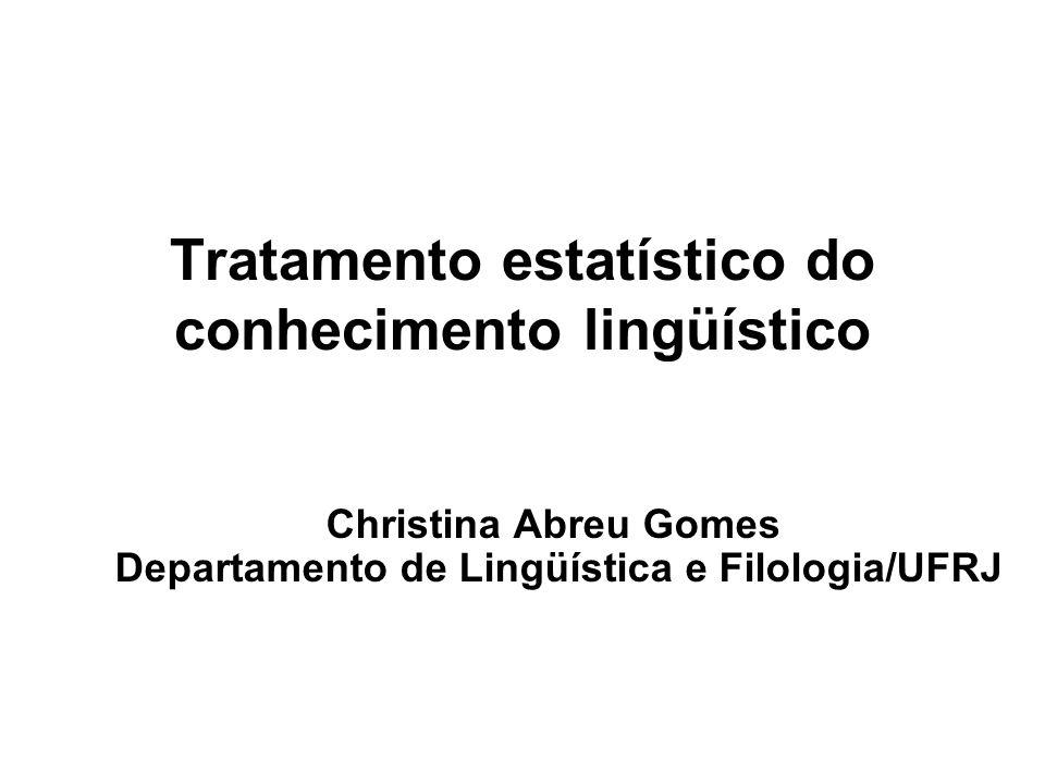 Tratamento estatístico do conhecimento lingüístico