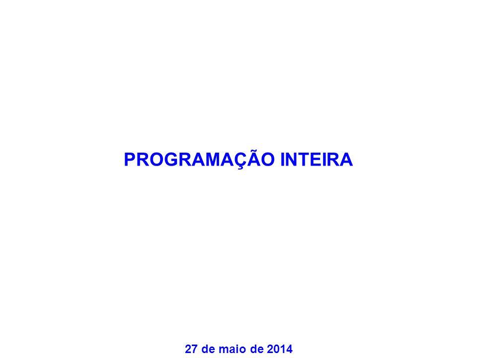 PROGRAMAÇÃO INTEIRA 27 de maio de 2014