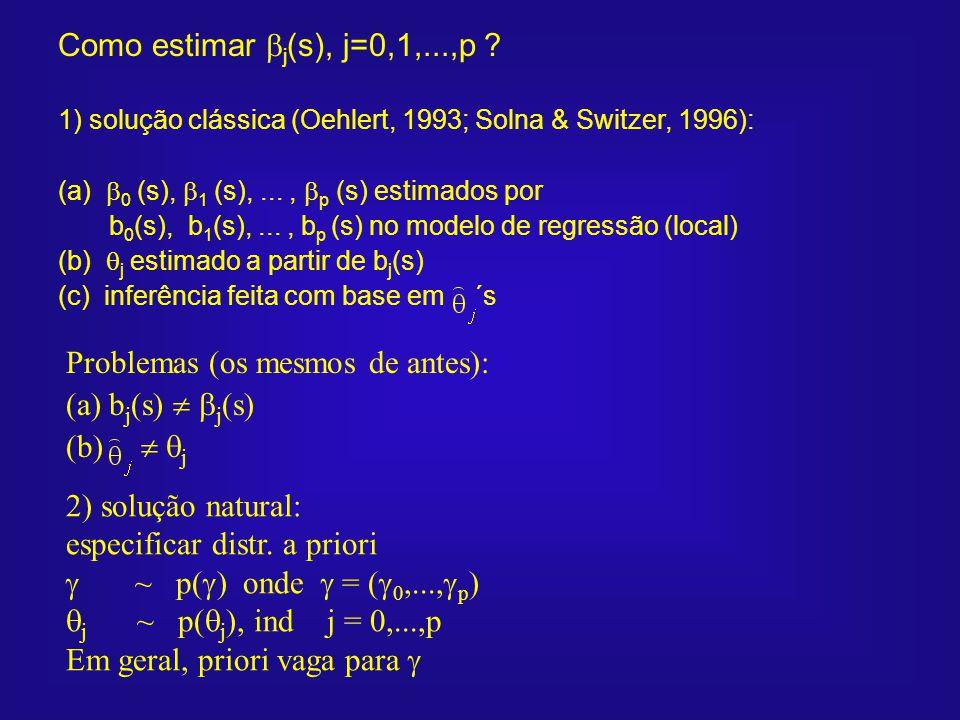 Problemas (os mesmos de antes): (a) bj(s)  j(s) (b)  j