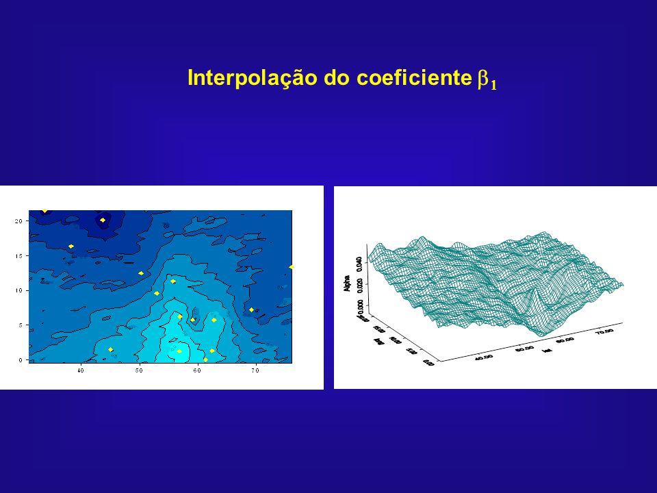 Interpolação do coeficiente b1