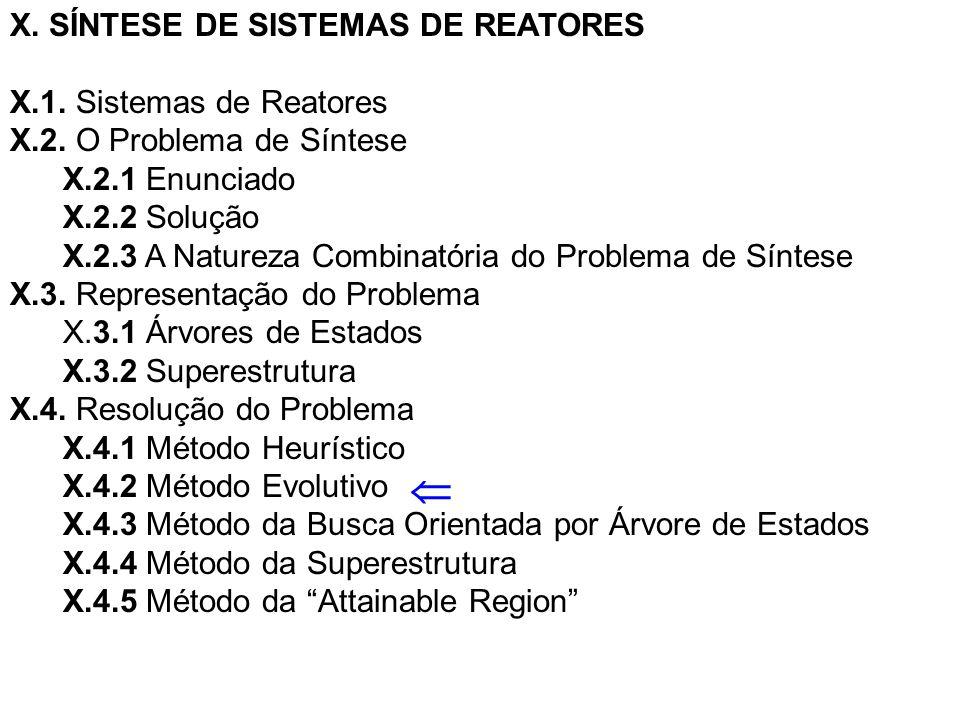  X. SÍNTESE DE SISTEMAS DE REATORES X.1. Sistemas de Reatores