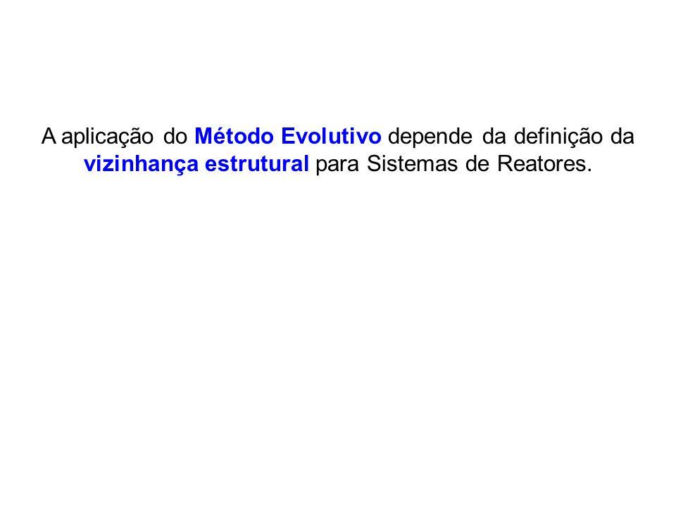 A aplicação do Método Evolutivo depende da definição da vizinhança estrutural para Sistemas de Reatores.