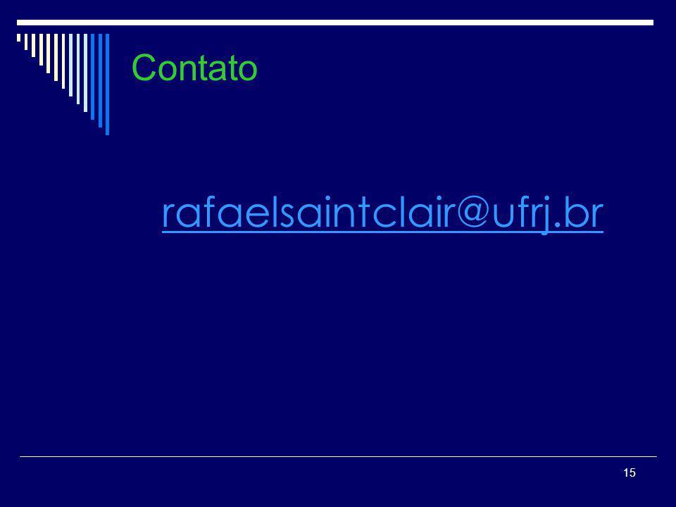Contato rafaelsaintclair@ufrj.br