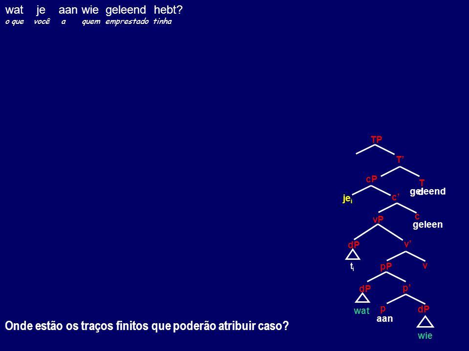 Onde estão os traços finitos que poderão atribuir caso