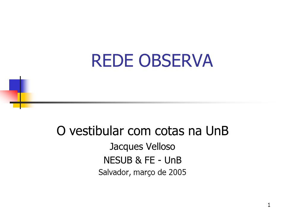 O vestibular com cotas na UnB