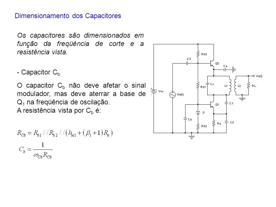 Dimensionamento dos Capacitores