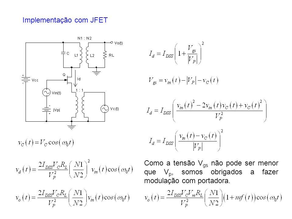Implementação com JFET