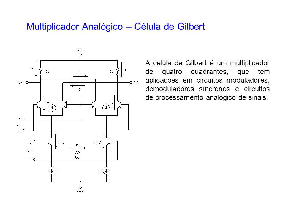 Multiplicador Analógico – Célula de Gilbert
