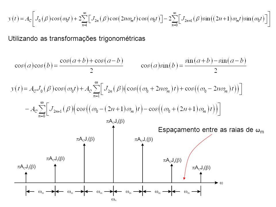 Utilizando as transformações trigonométricas