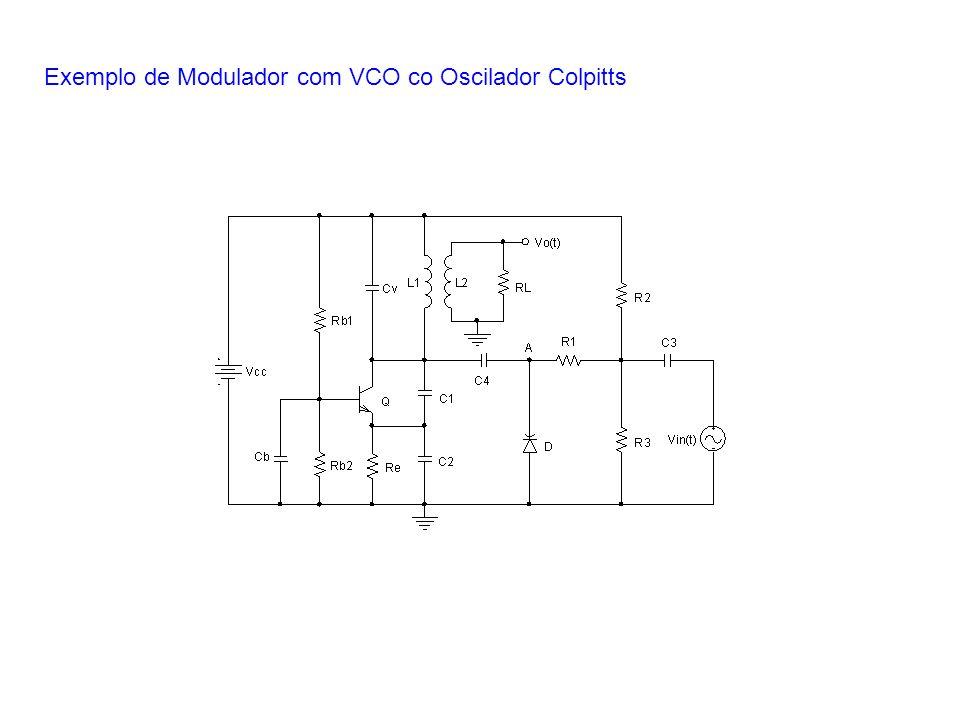 Exemplo de Modulador com VCO co Oscilador Colpitts