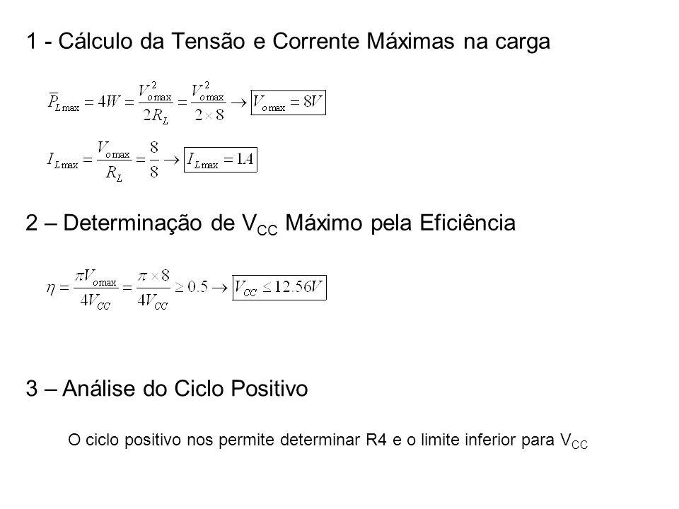 1 - Cálculo da Tensão e Corrente Máximas na carga