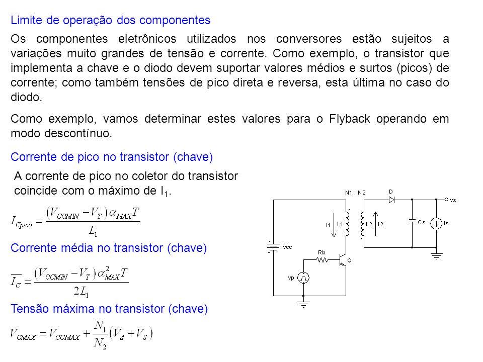 Limite de operação dos componentes