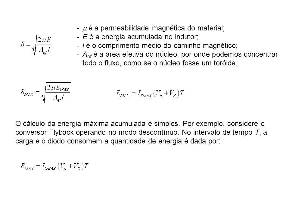 -  é a permeabilidade magnética do material;