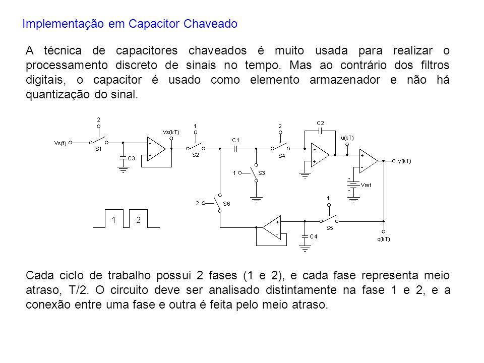 Implementação em Capacitor Chaveado