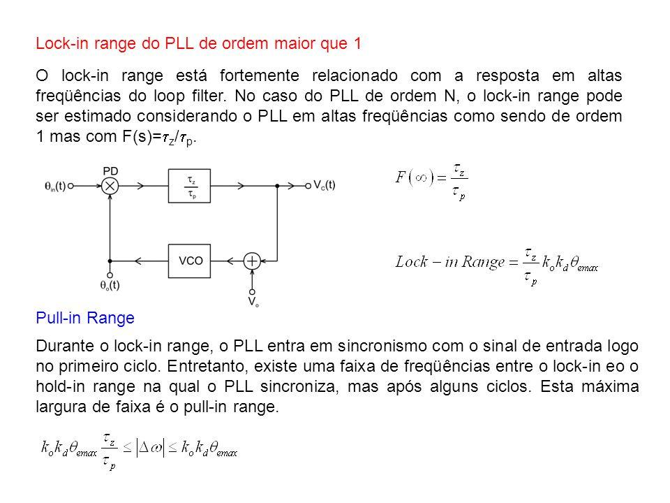Lock-in range do PLL de ordem maior que 1