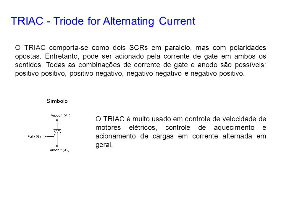 TRIAC - Triode for Alternating Current