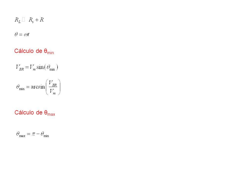 Cálculo de θmin Cálculo de θmax