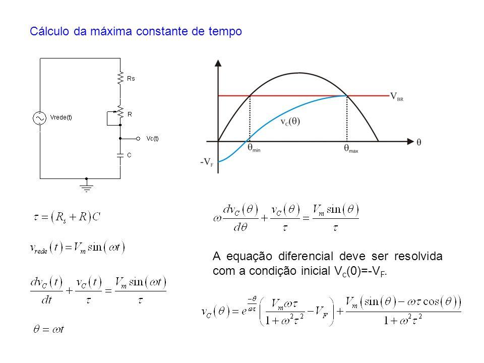 Cálculo da máxima constante de tempo