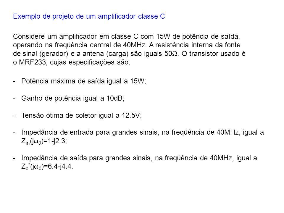 Exemplo de projeto de um amplificador classe C
