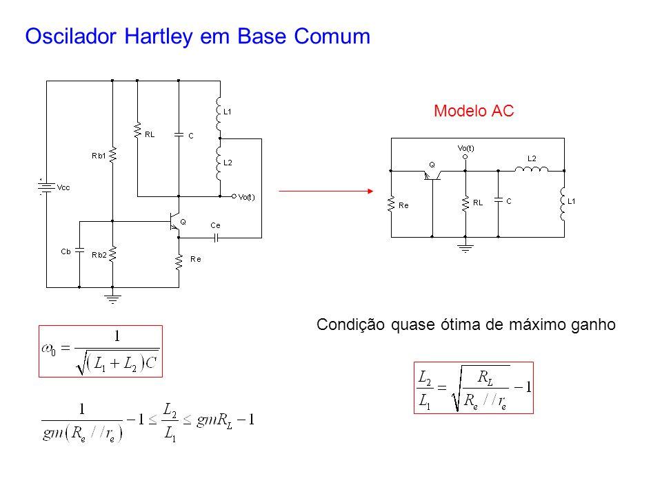 Oscilador Hartley em Base Comum