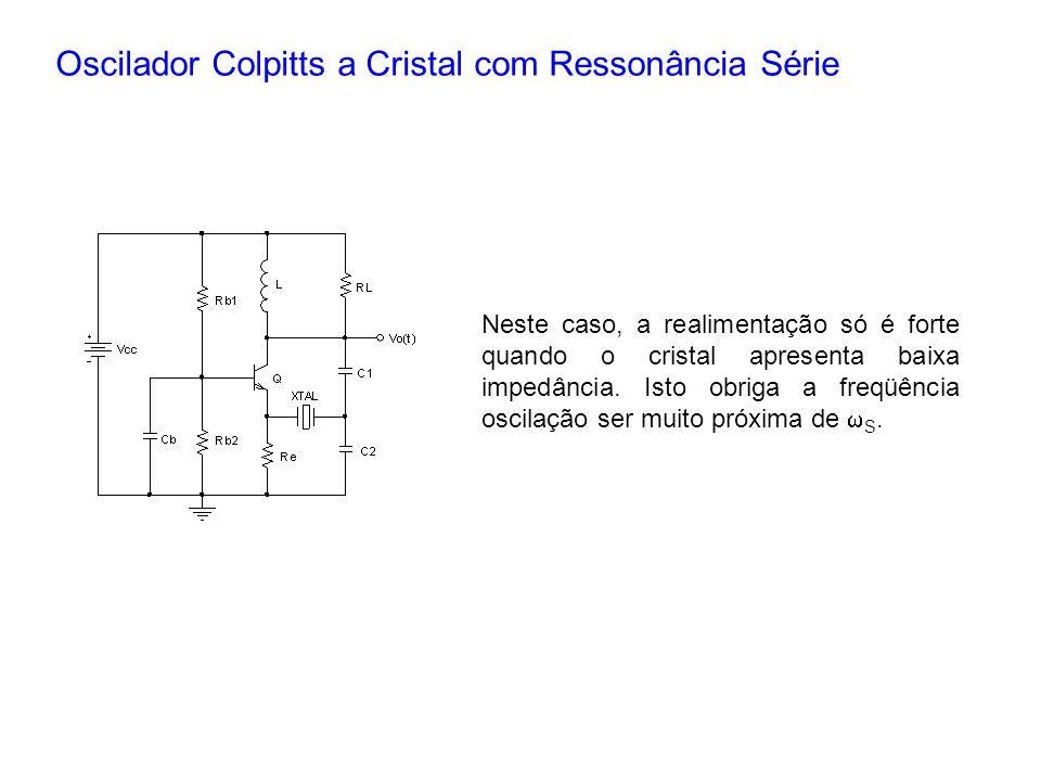 Oscilador Colpitts a Cristal com Ressonância Série