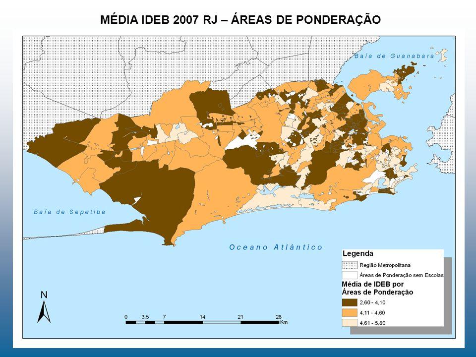 MÉDIA IDEB 2007 RJ – ÁREAS DE PONDERAÇÃO