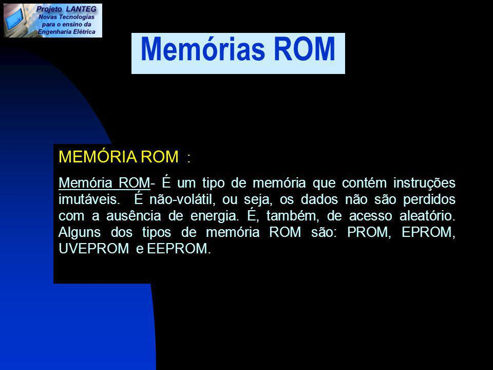 Memórias ROM MEMÓRIA ROM :