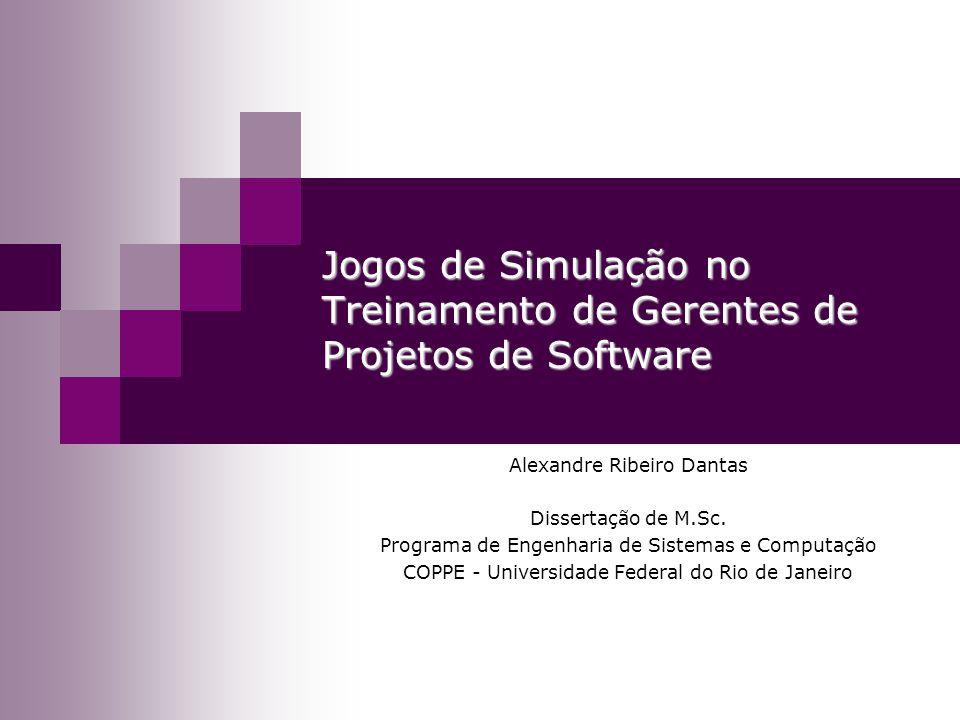 Jogos de Simulação no Treinamento de Gerentes de Projetos de Software