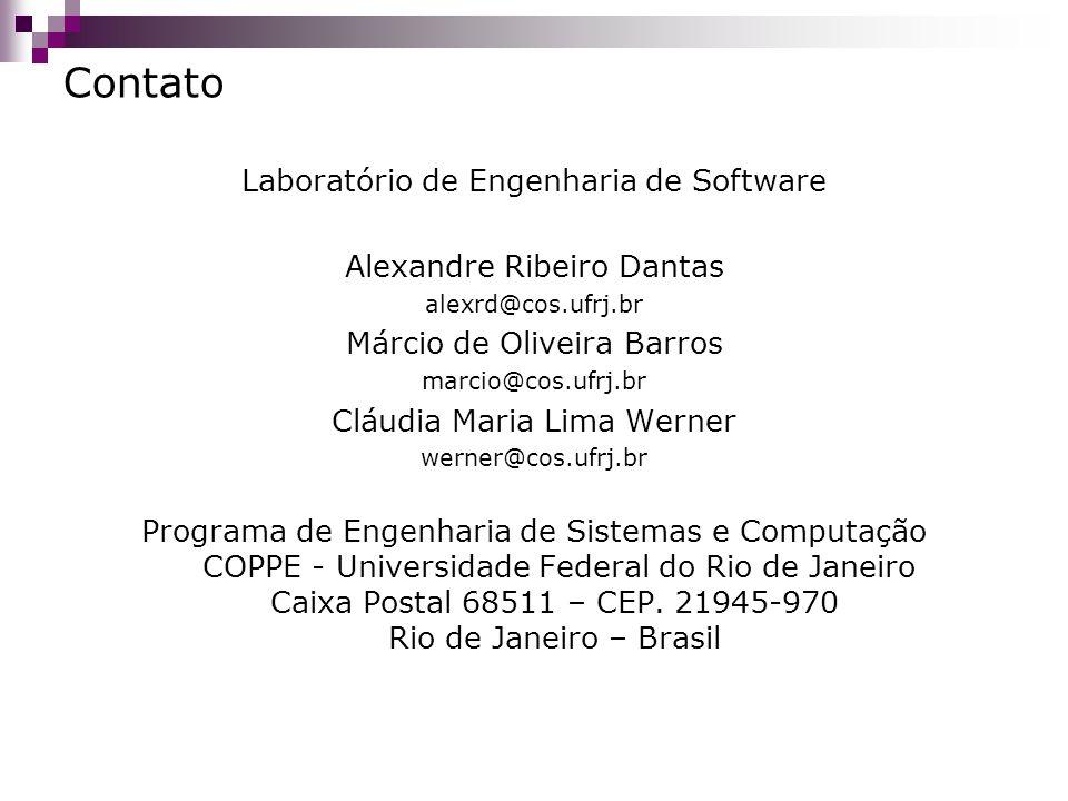 Contato Laboratório de Engenharia de Software Alexandre Ribeiro Dantas