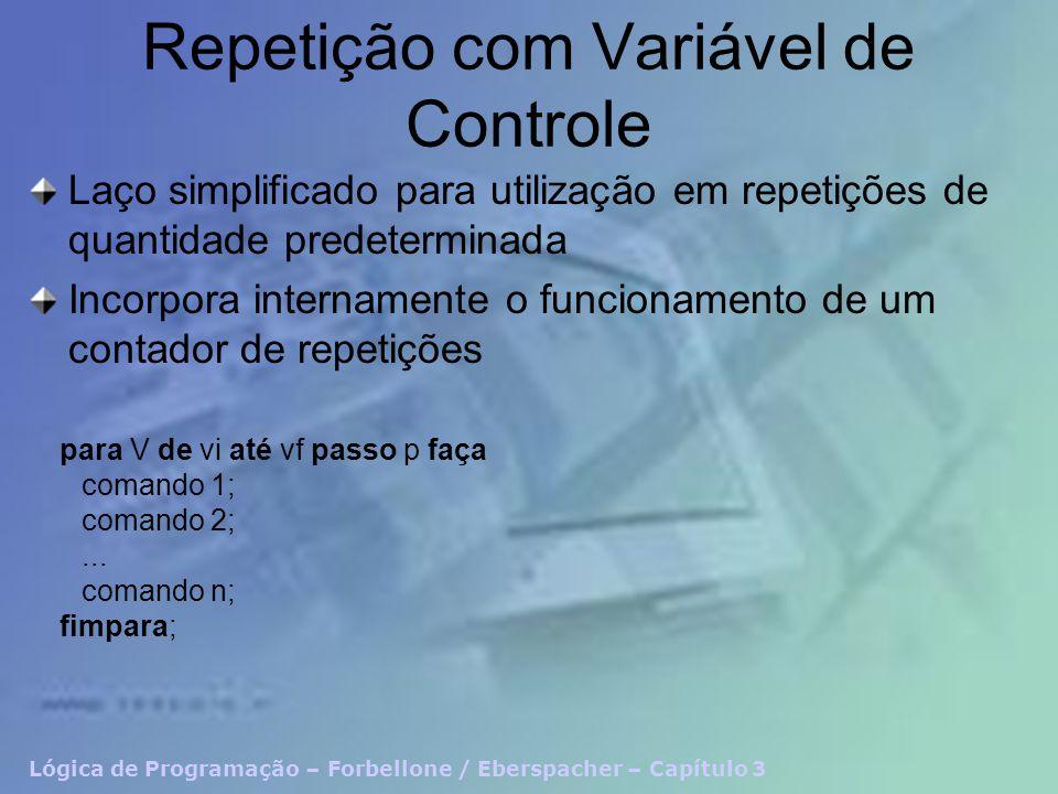 Repetição com Variável de Controle