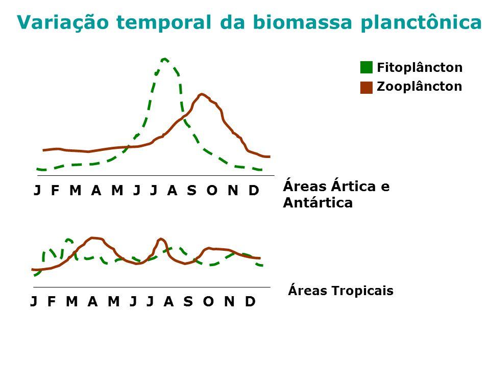 Variação temporal da biomassa planctônica