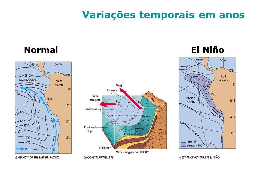 Variações temporais em anos