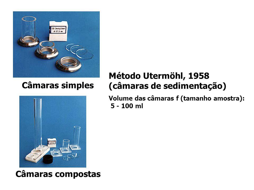 Método Utermöhl, 1958 (câmaras de sedimentação) Câmaras simples