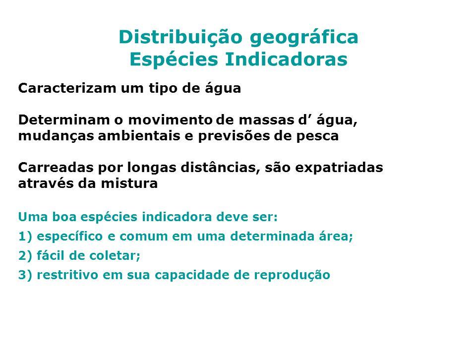 Distribuição geográfica Espécies Indicadoras
