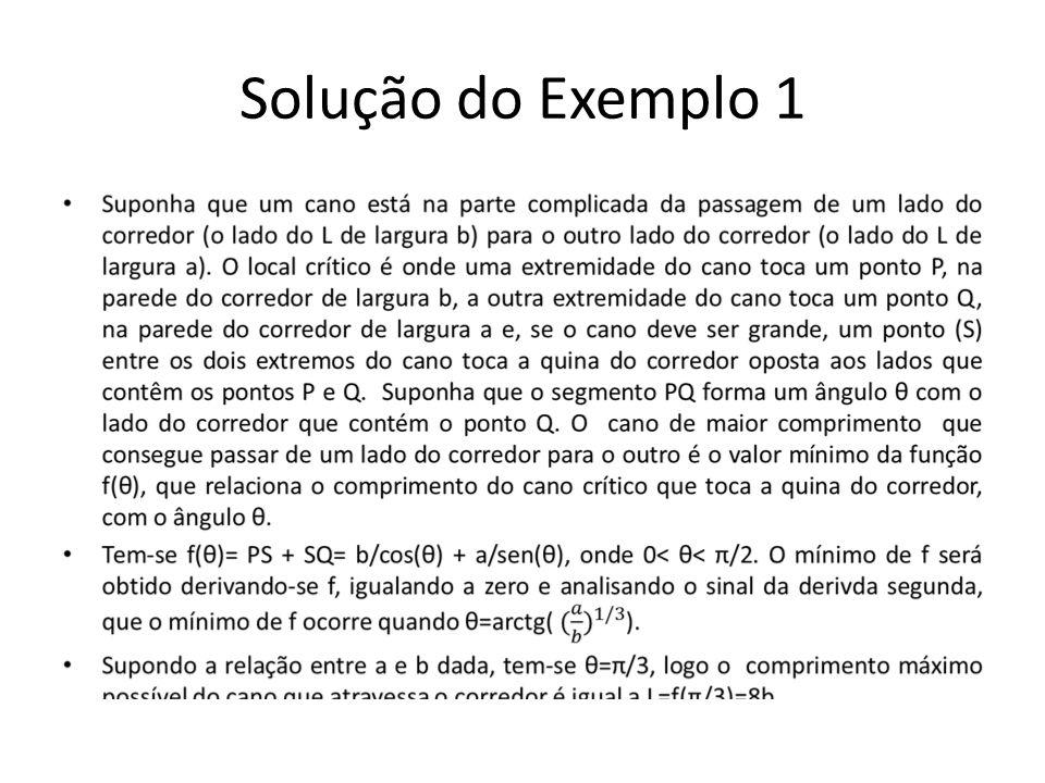 Solução do Exemplo 1