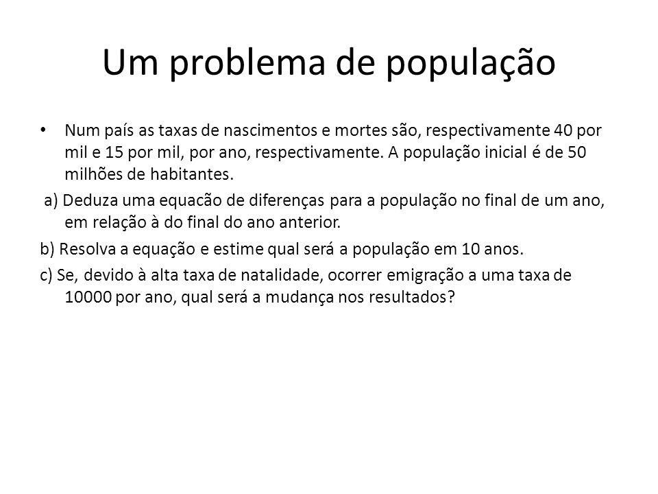 Um problema de população