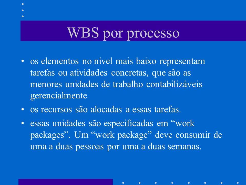 WBS por processo