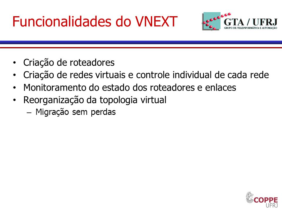 Funcionalidades do VNEXT