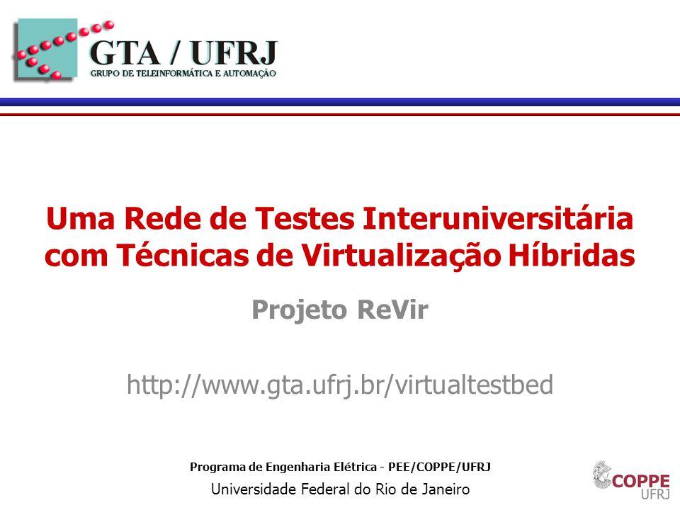 Projeto ReVir http://www.gta.ufrj.br/virtualtestbed
