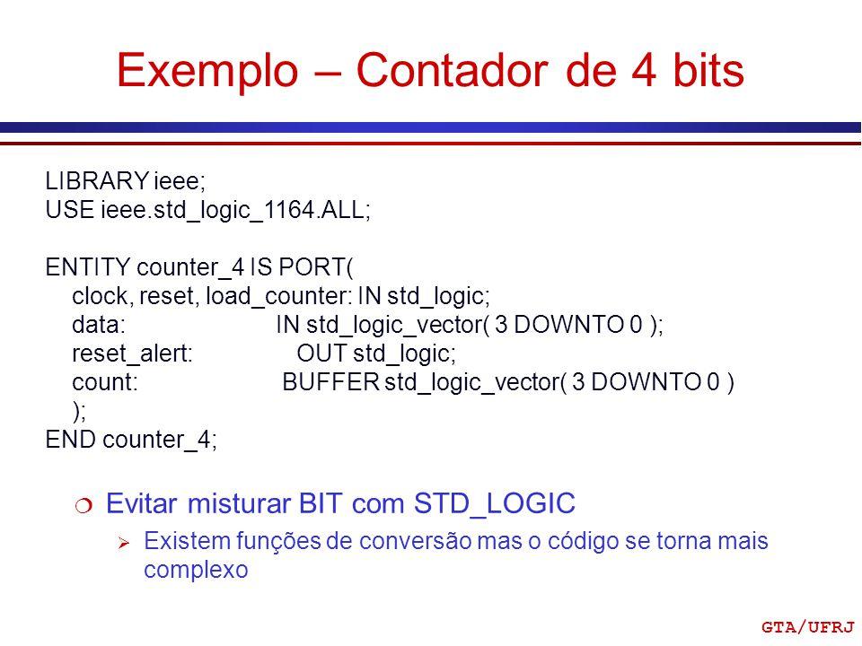 Exemplo – Contador de 4 bits