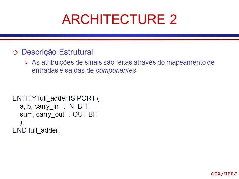 ARCHITECTURE 2 Descrição Estrutural