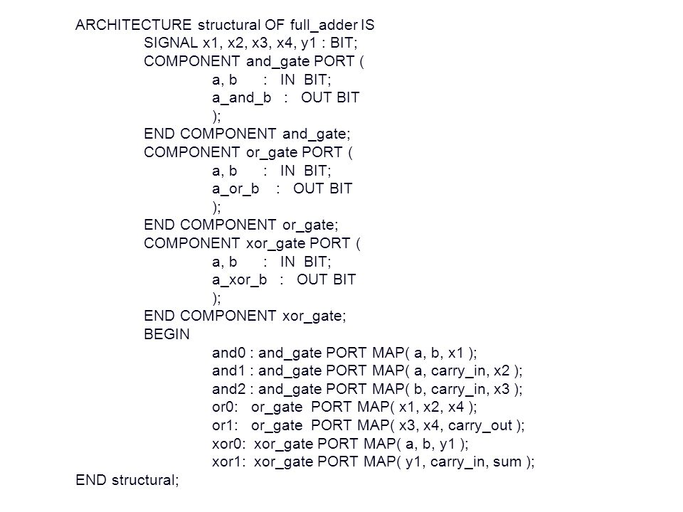 ARCHITECTURE structural OF full_adder IS
