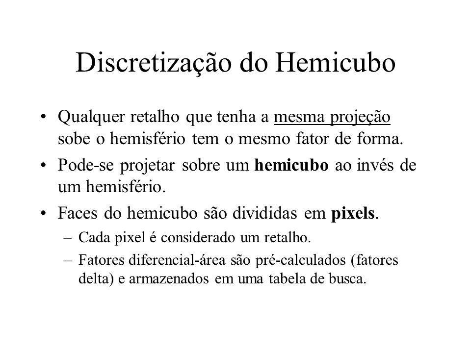 Discretização do Hemicubo