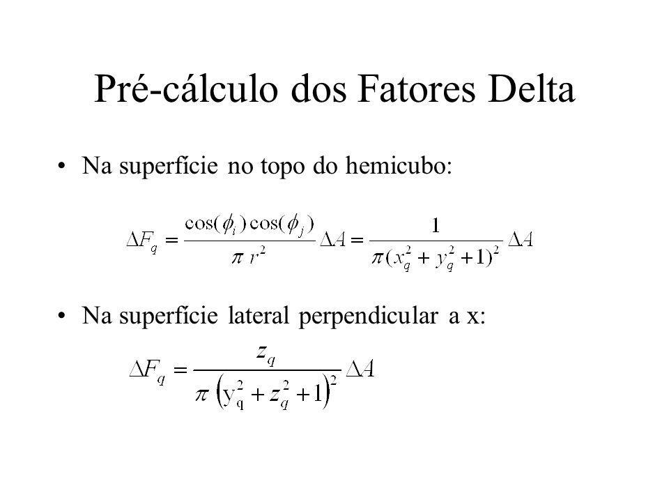 Pré-cálculo dos Fatores Delta