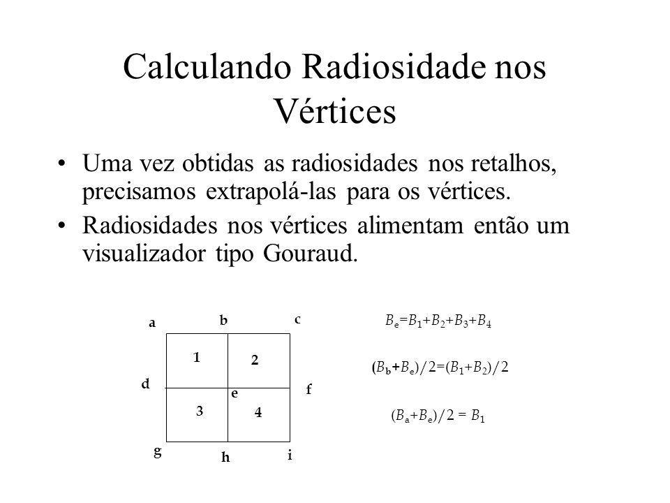 Calculando Radiosidade nos Vértices