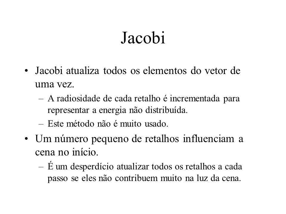 Jacobi Jacobi atualiza todos os elementos do vetor de uma vez.